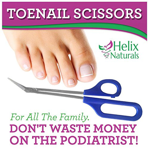 Helix Naturals Long Handled Toenail Scissors and Clippers for Thick Nails