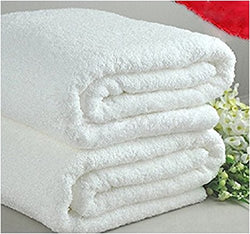 Deluxe Luxury Oversized White Terry Bath Towel