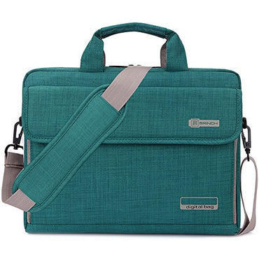 BRINCH Oxford Fabric Unisex Portable Laptop Carrying Bag with Shoulder Strap Handle and Pockets