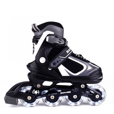 MammyGol Adjustable Inline Skates for Kids, Rollerblades Girls Boys with Light up Wheels
