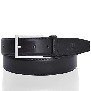 Belts for Men Leather Black Business Belt with Gift Box