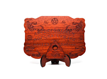 Beatus Lignum Mini Ouija Board in African Padauk Wood - 8 x 5.5 in, 1/4 Thick - All Natural - Real Plain Wood - Customizable