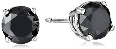 2 CT Black Diamond Stud Earrings 14k Gold