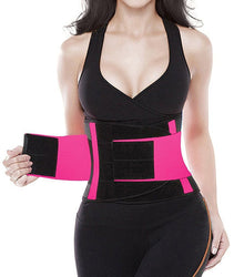 Camellias Women Waist Trainer Belt Body Shaper Belly Wrap - Trimmer Slimmer Compression Band for Weight Loss Workout Fitness