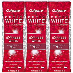Colgate Optic White Express White Whitening Toothpaste - 85g (3 Pack)