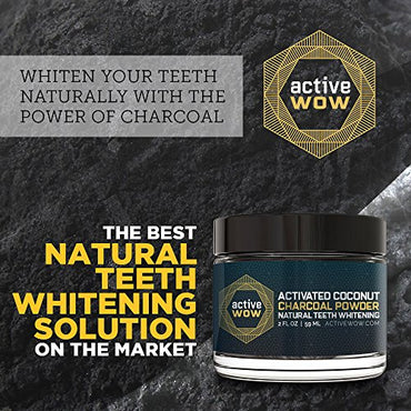 Active Wow Teeth Whitening Charcoal Powder Natural 59ml