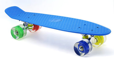 "Merkapa 22"" Complete Skateboard with Colorful LED Light Up Wheels for Kids, Boys, Girls, Youths, Beginners"