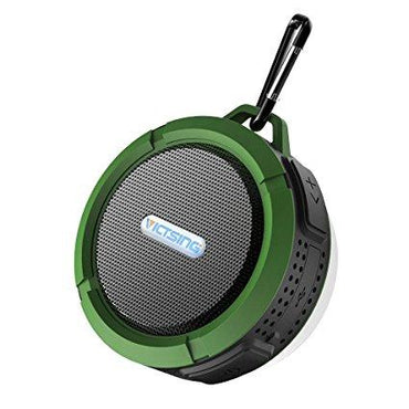 VicTsing Shower Speaker, Wireless Waterproof Speaker with 5W Driver, Suction Cup, Buit-in Mic, Hands-Free Speakerphone - Army Green