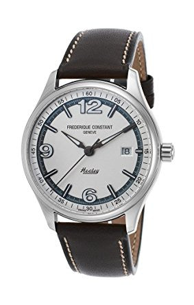 Frederique Constant Men's 'Vintage Rally' FC-303WGH5B6 Swiss Automatic Stainless Steel and Leather Dress Watch