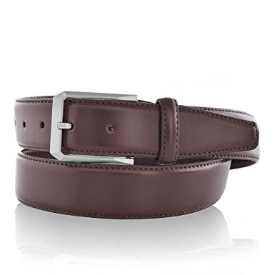 Men's Leather Dress Belt Classic Business Strap with Gift Box