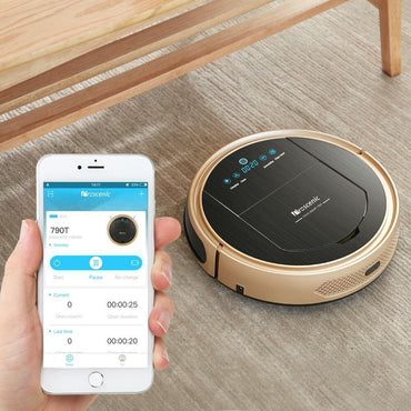 Proscenic 790TS Robot Vacuum Cleaner, Robotic Vacuum Cleaner with APP & Alexa Voice Control, Visionary Map, Water Tank and Mopping, HEPA Filtration for Pet Fur and Allergens