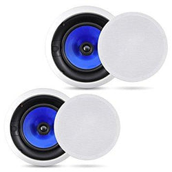 Pyle Home PIC8E 300 Watt High-End 8-Inch Two-Way In-Ceiling Speaker System with Adjustable Treble Control (Pair)