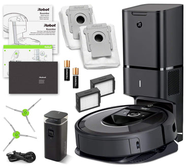 iRobot Roomba i7+ (7550) Robot Vacuum Bundle with Automatic Dirt Disposal- Wi-Fi Connected, Smart Mapping, Ideal for Pet Hair (+1 Extra Edge-Sweeping Brush, 1 Extra Filter)