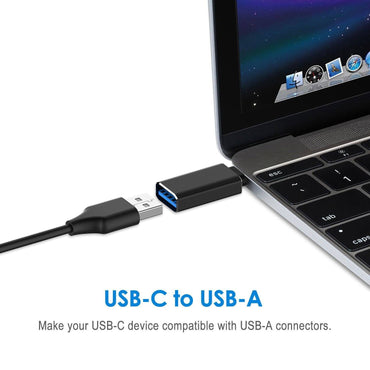 USB C Adapter, ZENZEC Hi-speed USB-C to USB-A 3.0 Adapter for USB Type-C Devices Including Galaxy S8, MacBook Pro, ChromeBook Pixel, Nexus 5X, Nexus 6P, Nokia N1 Tablet (2-Pack)