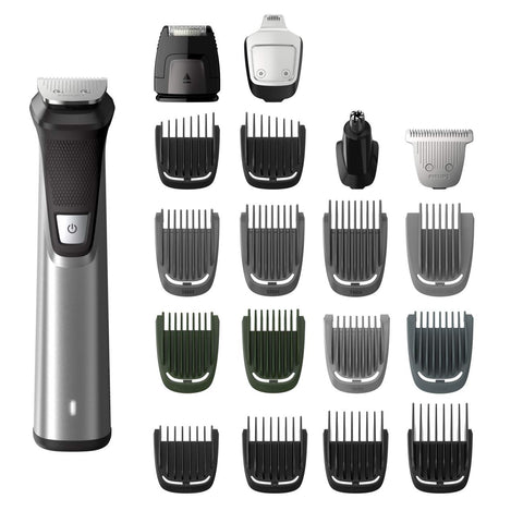 Philips Norelco Multigroom Series 7000, MG7750/49, 23 Piece Mens Grooming Kit, Trimmer for Beard, Head, Body, and Face - NO BLADE OIL NEEDED