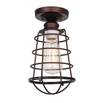 Design House 519694 Ajax 1 Light Ceiling Light, Bronze
