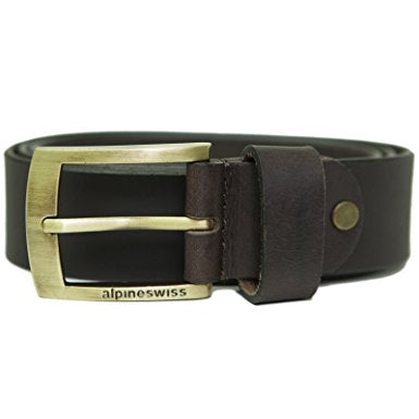 Alpine Swiss Men's Casual Jean Belt 35MM Genuine Dakota Leather