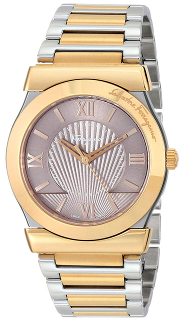 Salvatore Ferragamo Men's FI0020014 Vega Analog Display Swiss Quartz Two Tone Watch