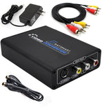 1080P HDMI to Composite 3RCA AV + S-Video R/L Audio Video Converter Adapter Scaler 720P 1080P Work with PS3 Xbox HDTV DVD TV STB Blue-Ray (HDMI to RCA)