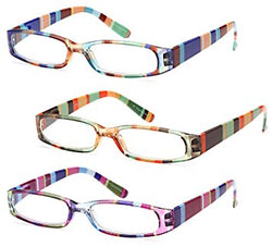 GAMMA RAY READERS 3 Pairs Ladies' Readers Quality Reading Glasses for Women - With +1.50...