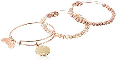 Alex and Ani Womens Cheers Set of 3 Color Infusion Champagne
