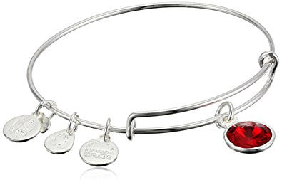 Alex and Ani Bangle Bar Birth Month Bangle Bracelet, 7.75""