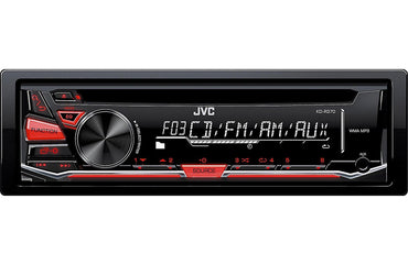 JVC KD-R370 Single DIN In-Dash CD/AM/FM/ Receiver with Detachable Faceplate