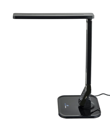 Ambertronix LED Desk Lamp AT-258-B 14W Touch Control Panel, 1-Hour Auto Timer, 5V/1A USB Charging Port