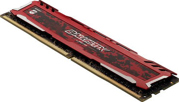 Ballistix Sport LT 64GB Kit (16GBx4) DDR4 2400 MT/s (PC4-19200) DIMM 288-Pin - BLS4K16G4D240FSE (Red)