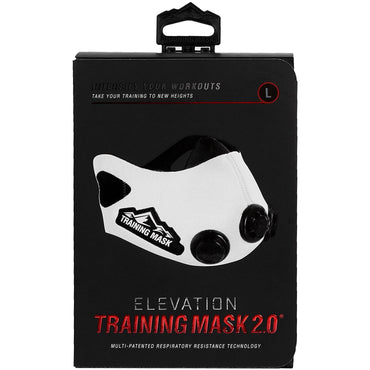 Training Mask 2.0 [White] Elevation Training Mask, Fitness Mask, Workout Mask, Running Mask, Breathing Mask, Resistance Mask, Elevation Mask, Cardio Mask, Endurance Mask For Fitness