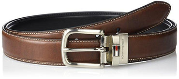 Tommy Hilfiger Men's Leather Reversible Belt (With Big & Tall Sizes)