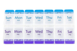 Ezy Dose 7 Day AM/PM Travel Pill Container, 3-Pack