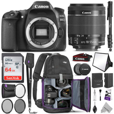 Canon Digital SLR Camera Body [EOS 80D] with 24.2 Megapixel (APS-C)