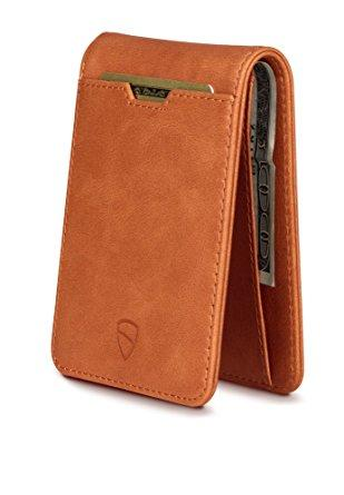 Vaultskin MANHATTAN Slim Bifold Wallet with RFID Protection for Cards and Cash