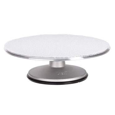Ateco PB Revolving Cake Decorating Stand, Aluminum Turntable and Cast Iron Base with Non-Slip Pad, 12-Inch