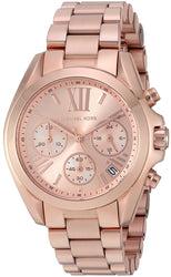 Michael Kors Women's Rose Goldtone Mini Bradshaw Watch