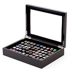 Black Cufflinks Storage Box / Case Affordable (Holds 36 pairs) by Cuff-Daddy