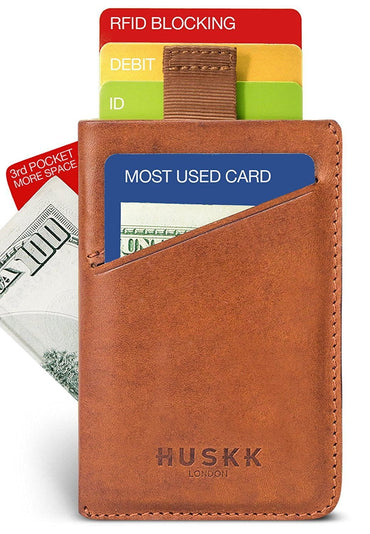 Wallets for Men - Mens Wallets - Slim Front Pocket Card Holder Sleeve - RFID Blocking