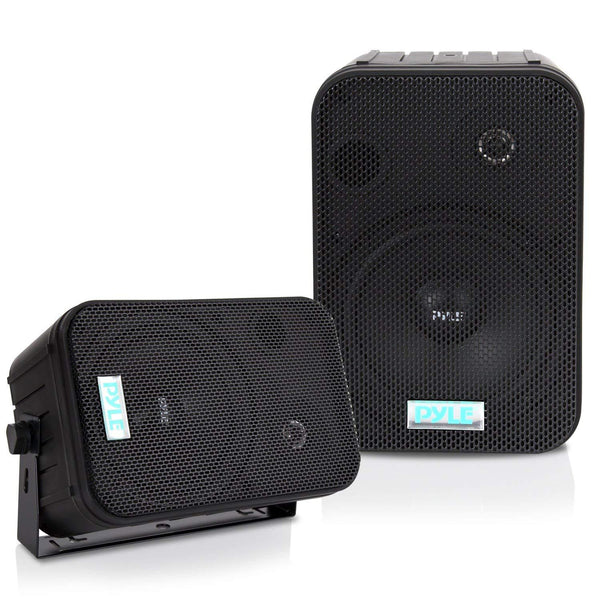 Pyle PDWR30B Dual Waterproof Outdoor Speaker System - 3.5 Inch (Pair)