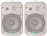 Dual Waterproof Outdoor Speaker System - 6.5 Inch Pair of Weatherproof Wall/Ceiling Mounted Speakers w/Heavy Duty Grill, Universal Mount - For Use in the Pool, Patio, Indoor - Pyle PDWR50W (White)