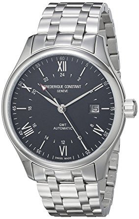 Frederique Constant FC-350B5B6B 'Classics' Black Dial, Stainless Steel Swiss Automatic Watch