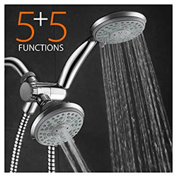 Aquadance by HotelSpa 24-Setting Slimline Design Ultra-Luxury 3 Way Shower-Head/Handheld Shower Combo by Top Brand Manufacturer!