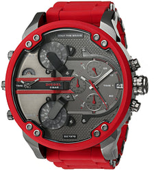 Diesel Men's DZ7370 Mini Daddy Red Silicone Wrap Watch