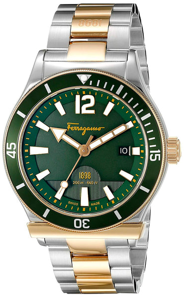 Salvatore Ferragamo Men's FF3270015 Ferragamo 1898 Sport Analog Display Swiss Quartz Two Tone Watch