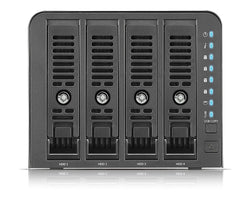 Thecus N4350 4-Bay NAS with Marvell Armada 388 Dual Core 1.8 GHz, 1GB RAM, 2x USB 3.0 - Black