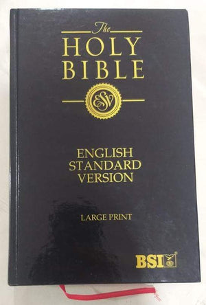 BSI The Holy Bible - ESV Large Print Hard Bound