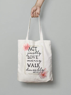 Living Words Act justly - Tote Bag