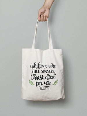 Living Words Christ died for us - Tote Bag