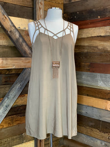 Taupe Ladder Back Dress