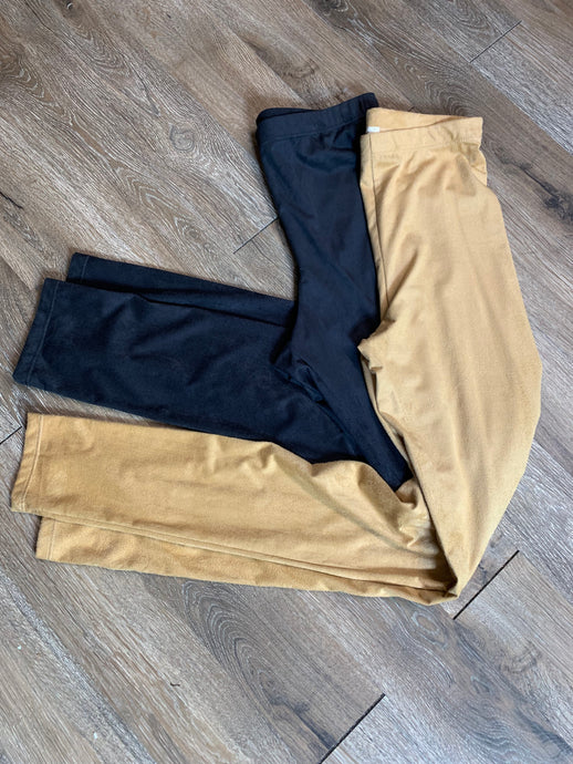Micro Suede Legging - Gold or Black